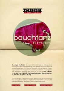 Flyer Bauchtanzworkshop_Demokratieladen